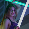 Kat Chaos in a star wars inspired photo shoot with just a touch of rave culture thrown in for good measure