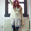 crazy girl with hammer