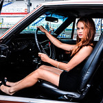 Roxy Glamour Model and a Hot Car