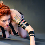 Katie set 1 electrical tape fetish implied nude